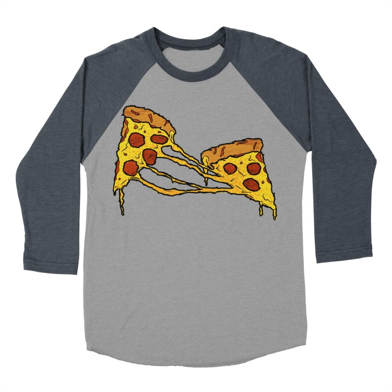 Gooey Pizza Slices Men's Baseball Triblend Longsleeve T-Shirt by DTM Creative