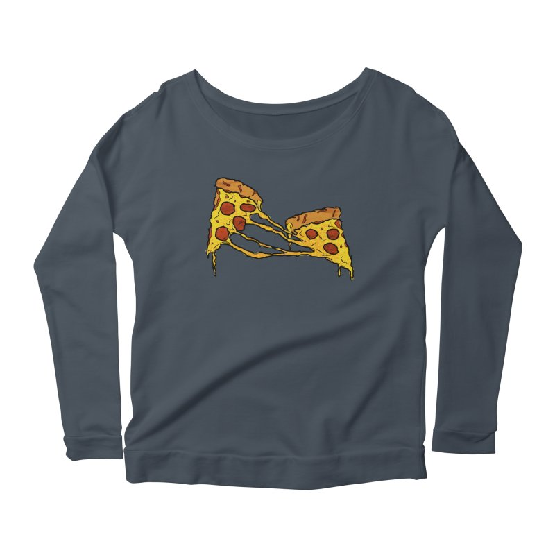 Gooey Pizza Slices Women's Scoop Neck Longsleeve T-Shirt by DTM Creative