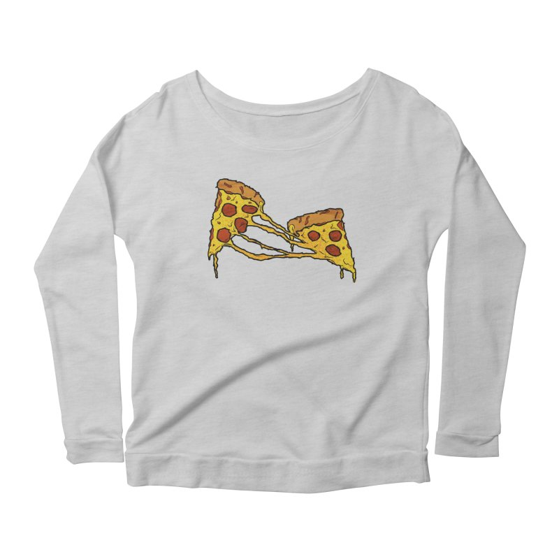 Gooey Pizza Slices Women's Scoop Neck Longsleeve T-Shirt by DTM Creative