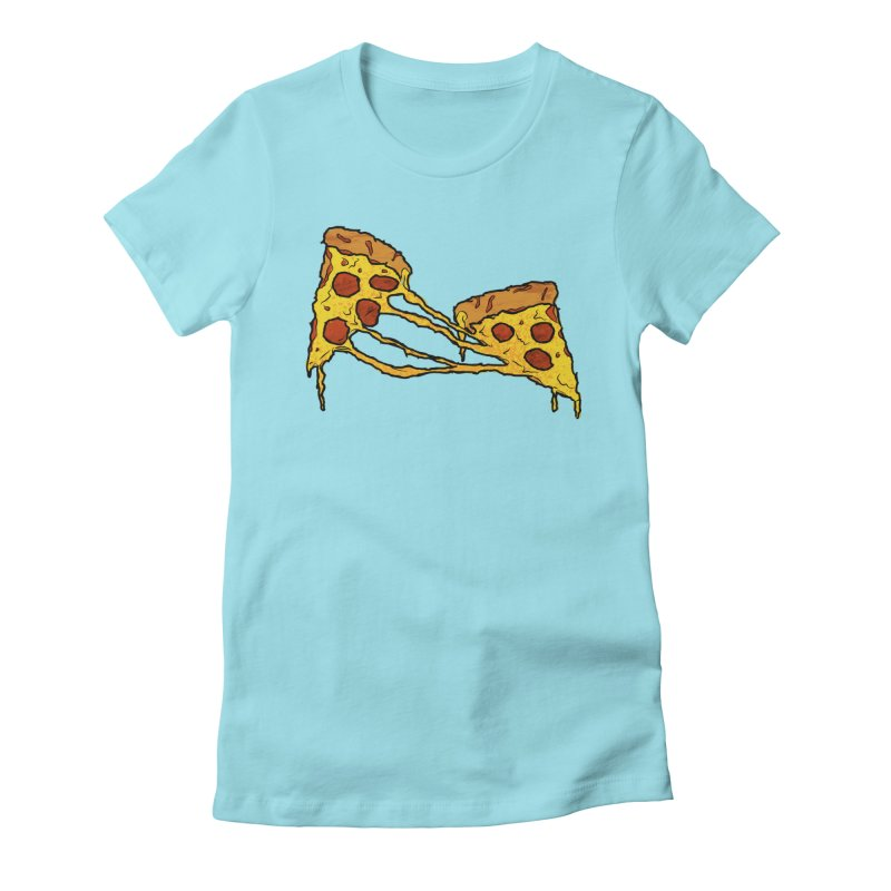 Gooey Pizza Slices Women's Fitted T-Shirt by DTM Creative
