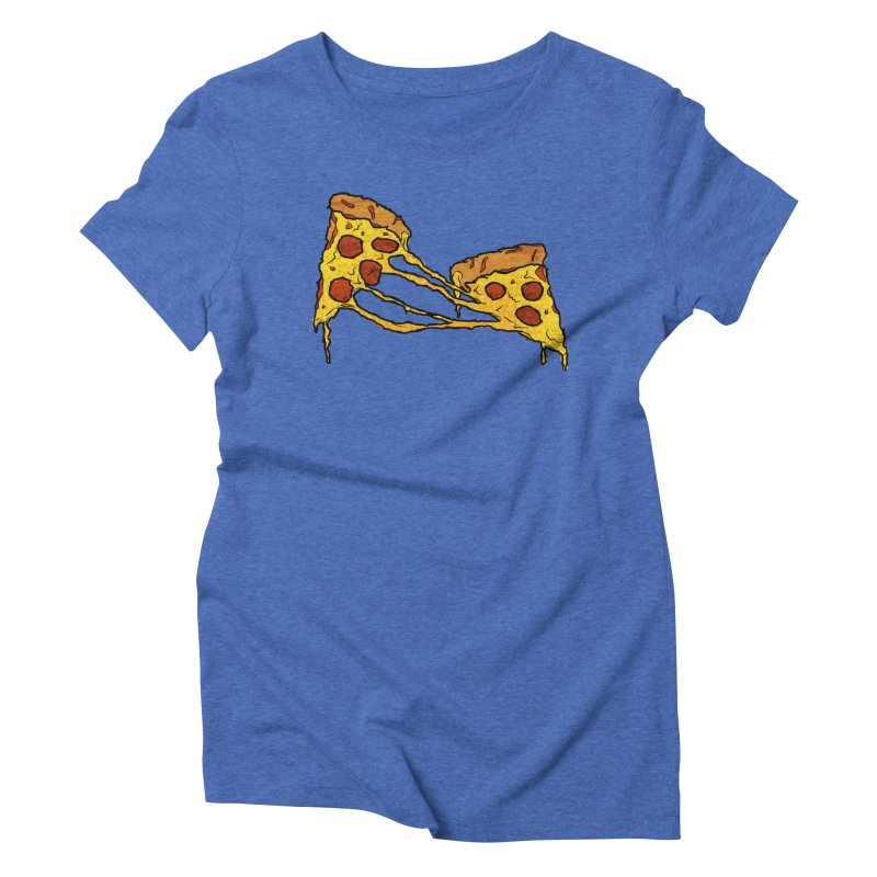 Gooey Pizza Slices Women's Triblend T-Shirt by DTM Creative
