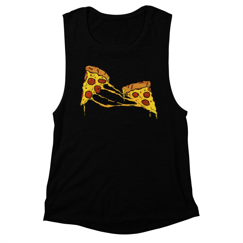 Gooey Pizza Slices Women's Muscle Tank by DTM Creative