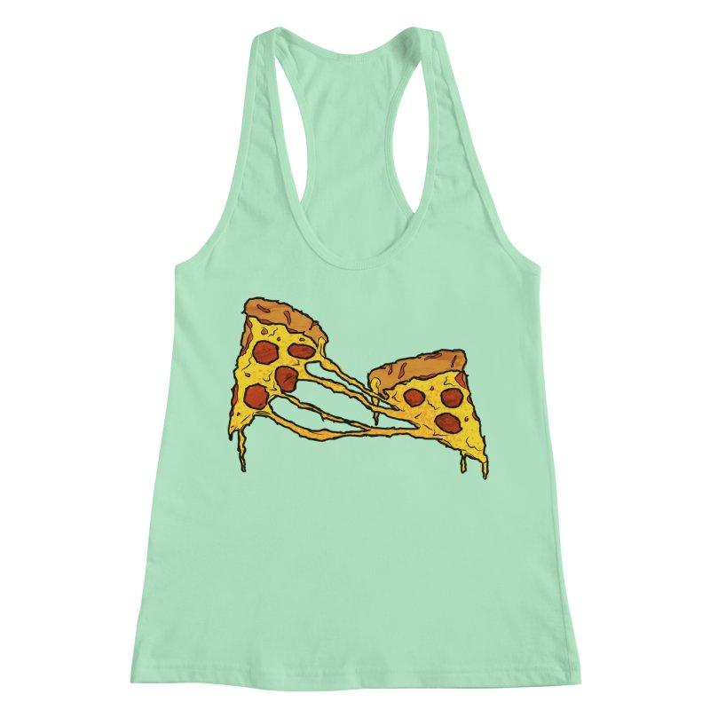 Gooey Pizza Slices Women's Racerback Tank by DTM Creative
