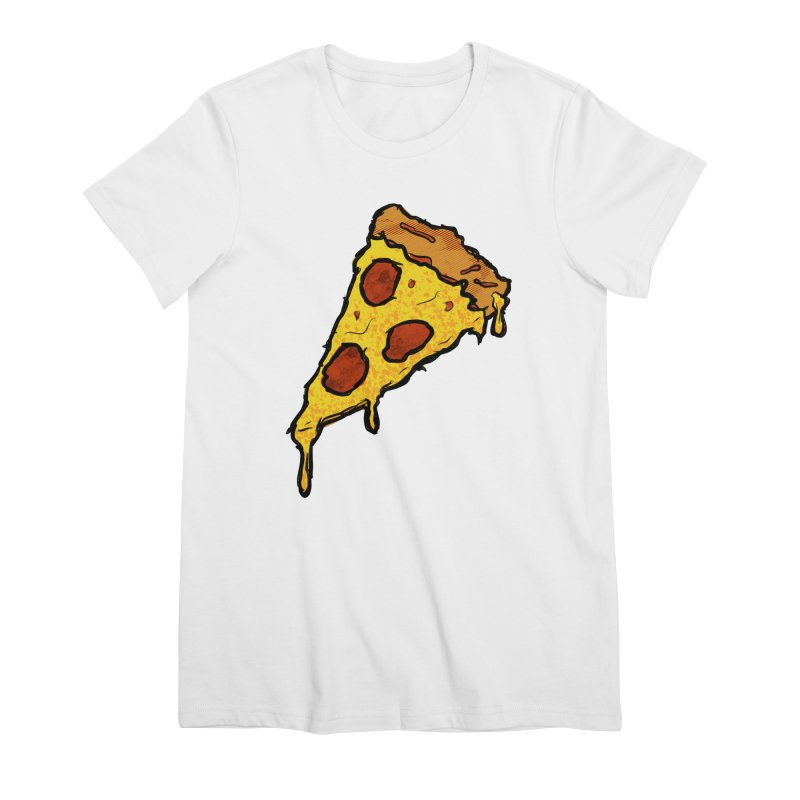 Gooey Pizza Slice Women's Premium T-Shirt by DTM Creative