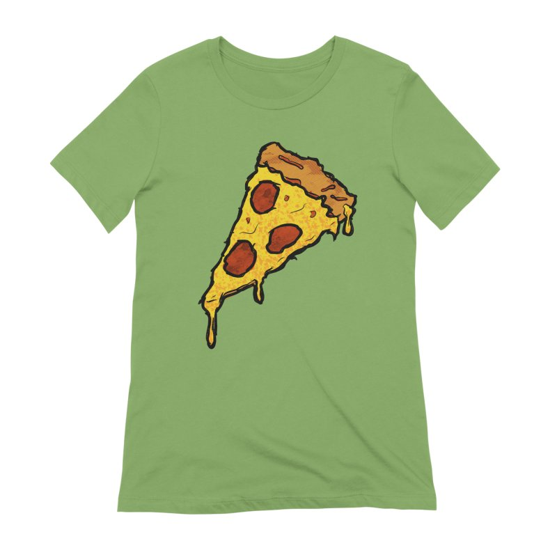 Gooey Pizza Slice Women's Extra Soft T-Shirt by DTM Creative