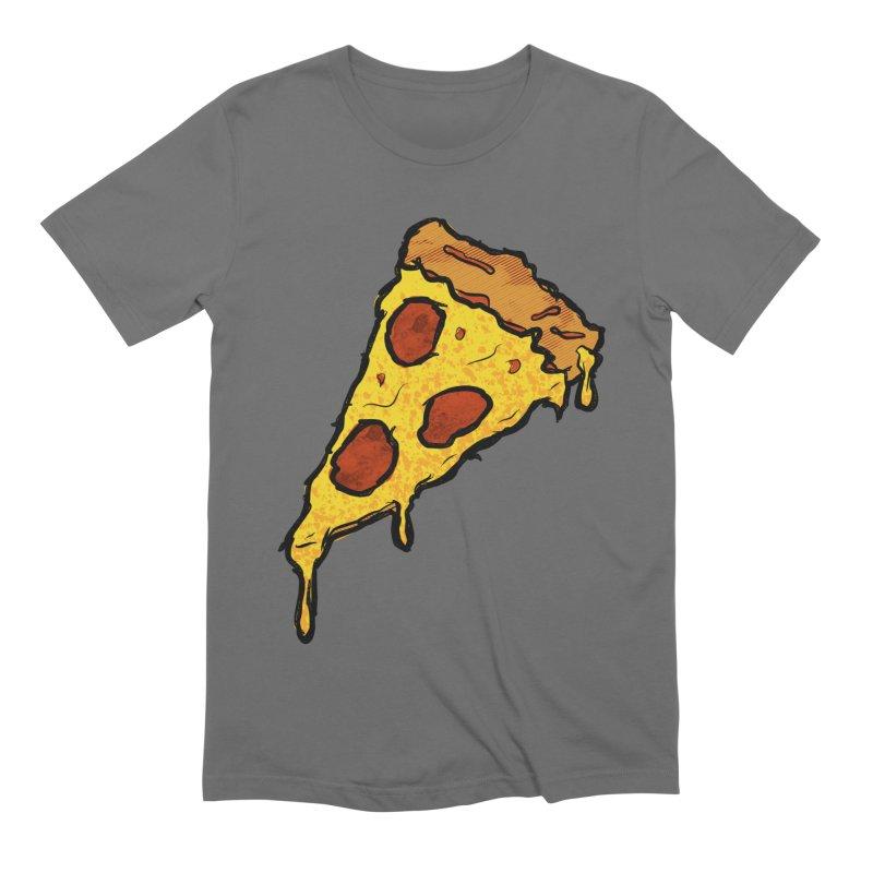 Gooey Pizza Slice Men's T-Shirt by DTM Creative