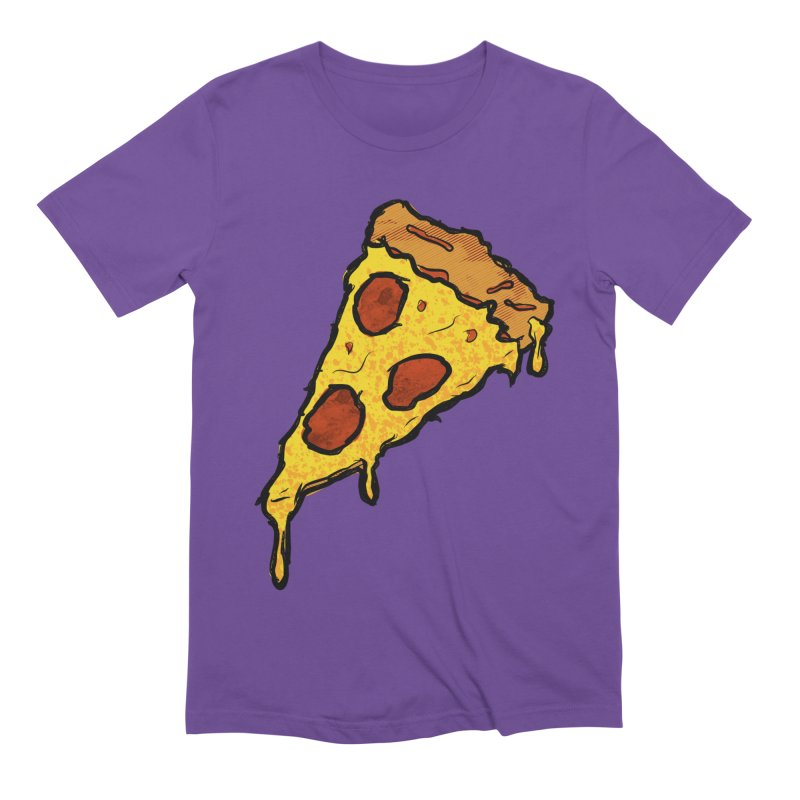 Gooey Pizza Slice Men's Extra Soft T-Shirt by DTM Creative