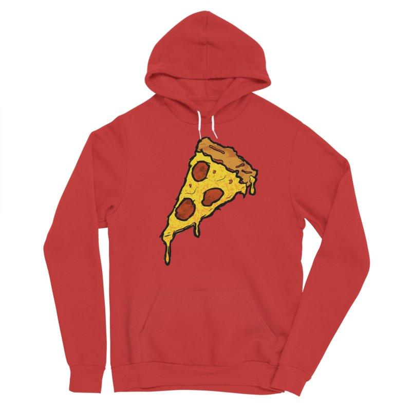 Gooey Pizza Slice Men's Pullover Hoody by DTM Creative