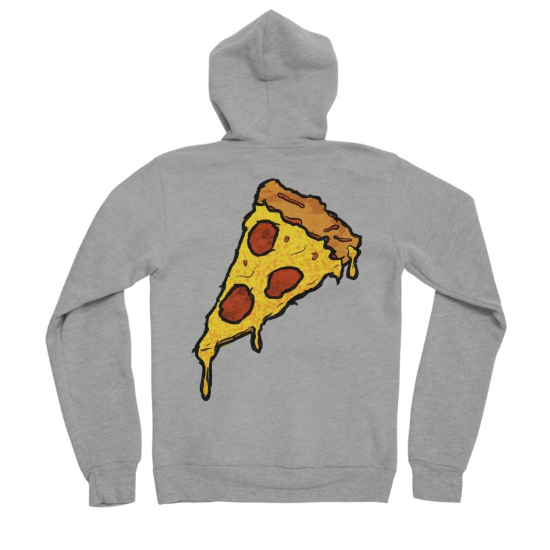 Gooey Pizza Slice Men's Sponge Fleece Zip-Up Hoody by DTM Creative