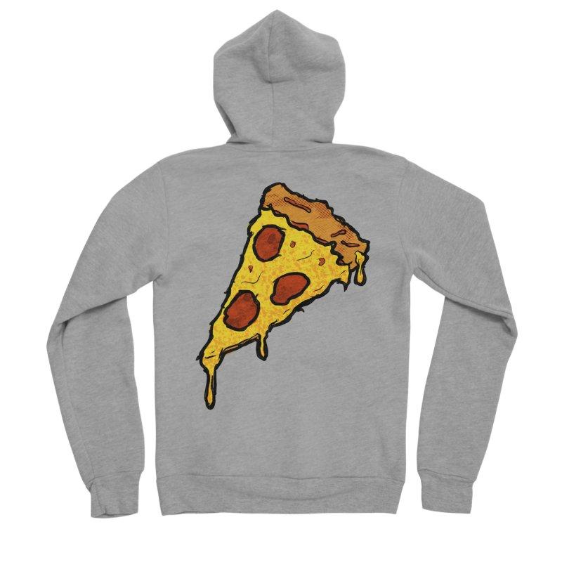 Gooey Pizza Slice Women's Sponge Fleece Zip-Up Hoody by DTM Creative