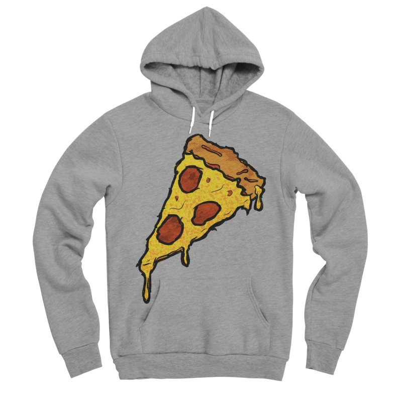 Gooey Pizza Slice Women's Sponge Fleece Pullover Hoody by DTM Creative