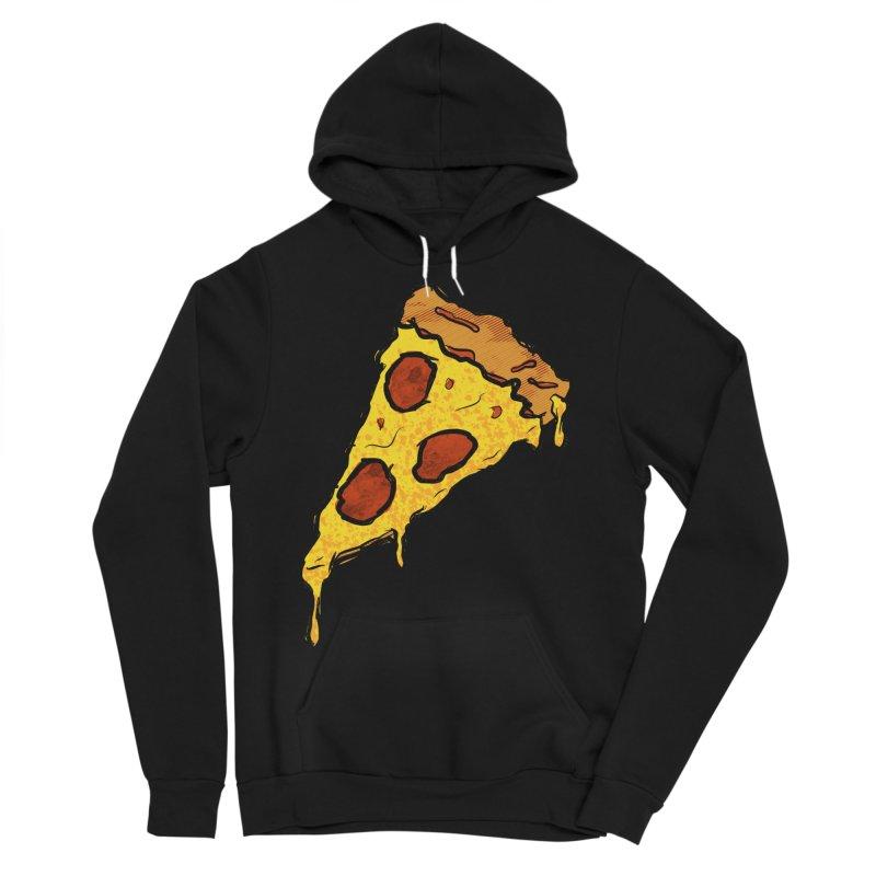 Gooey Pizza Slice Men's Sponge Fleece Pullover Hoody by DTM Creative