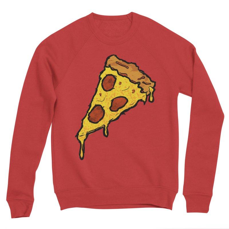 Gooey Pizza Slice Men's Sponge Fleece Sweatshirt by DTM Creative