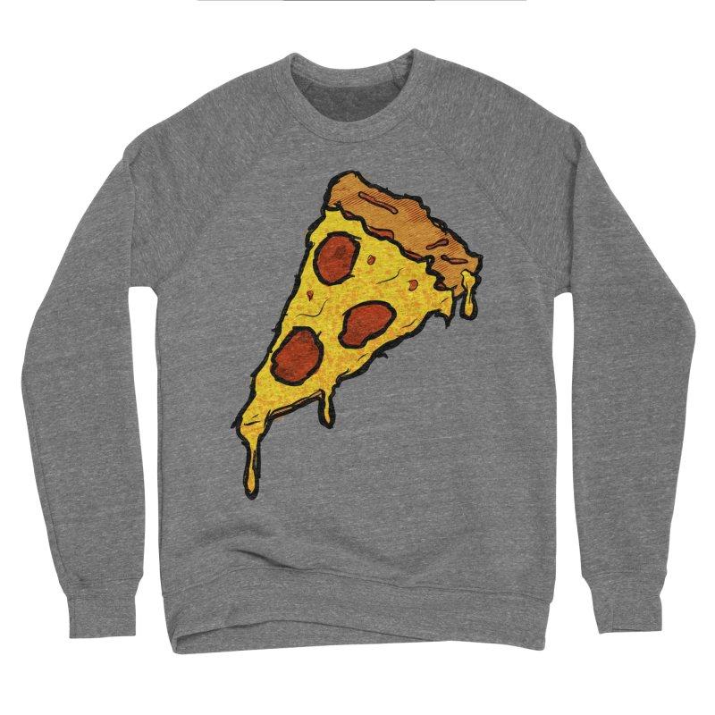 Gooey Pizza Slice Women's Sponge Fleece Sweatshirt by DTM Creative