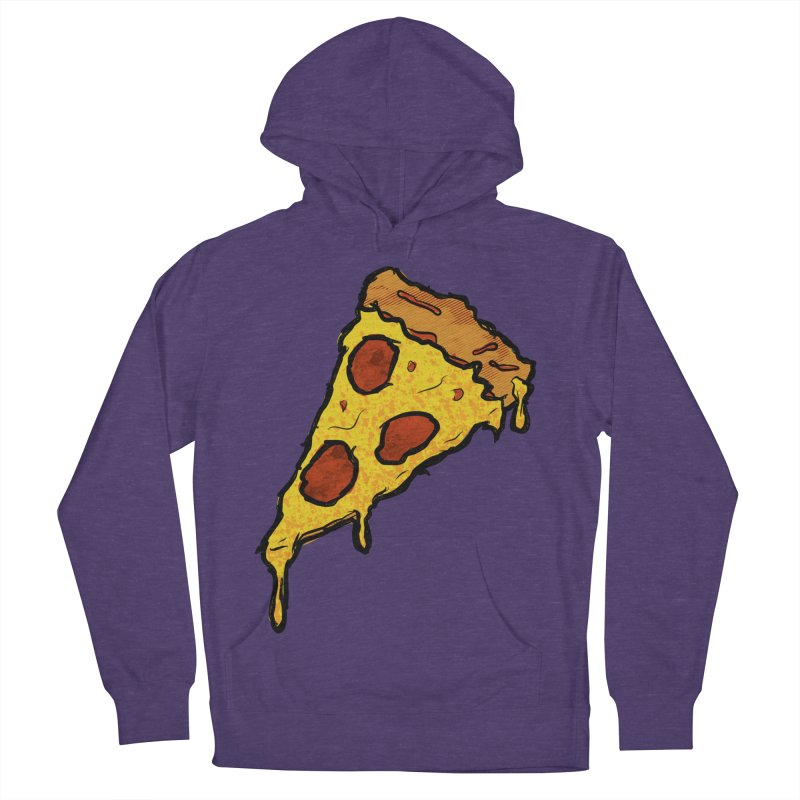 Gooey Pizza Slice Women's French Terry Pullover Hoody by DTM Creative