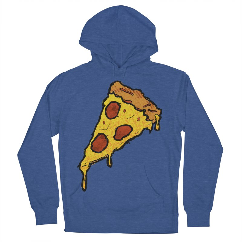 Gooey Pizza Slice Men's French Terry Pullover Hoody by DTM Creative