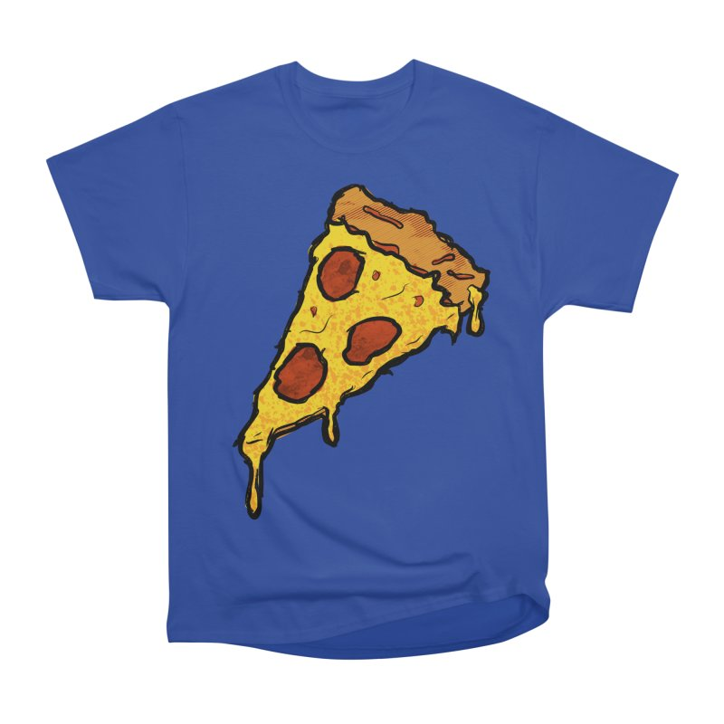 Gooey Pizza Slice Women's Heavyweight Unisex T-Shirt by DTM Creative