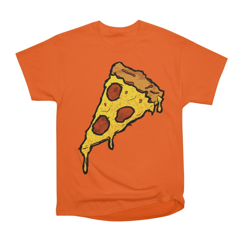 Gooey Pizza Slice Men's Heavyweight T-Shirt by DTM Creative