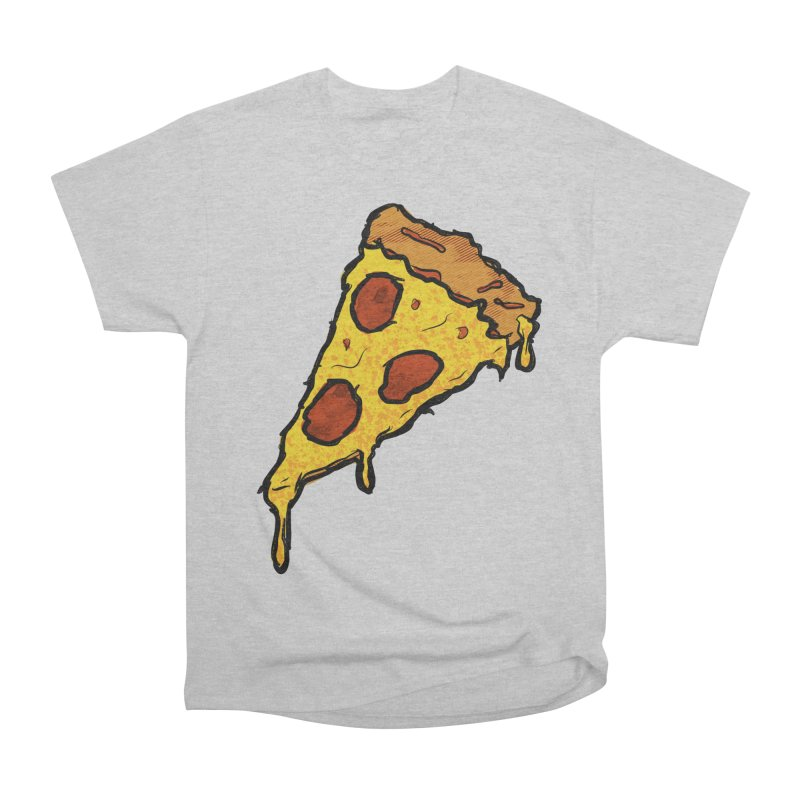 Gooey Pizza Slice Men's Heavyweight T-Shirt by DTM Creative