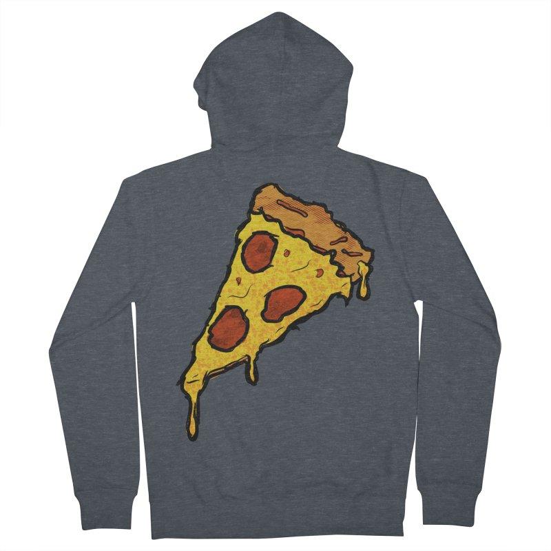 Gooey Pizza Slice Women's French Terry Zip-Up Hoody by DTM Creative
