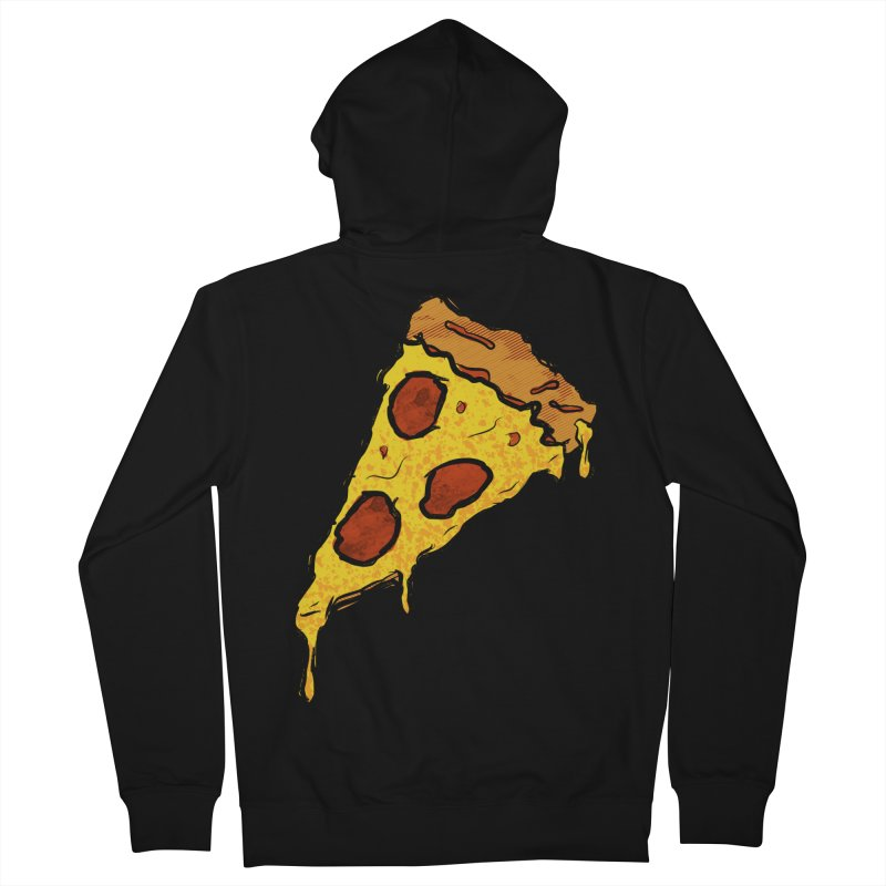 Gooey Pizza Slice Women's French Terry Zip-Up Hoody by DTM Creative