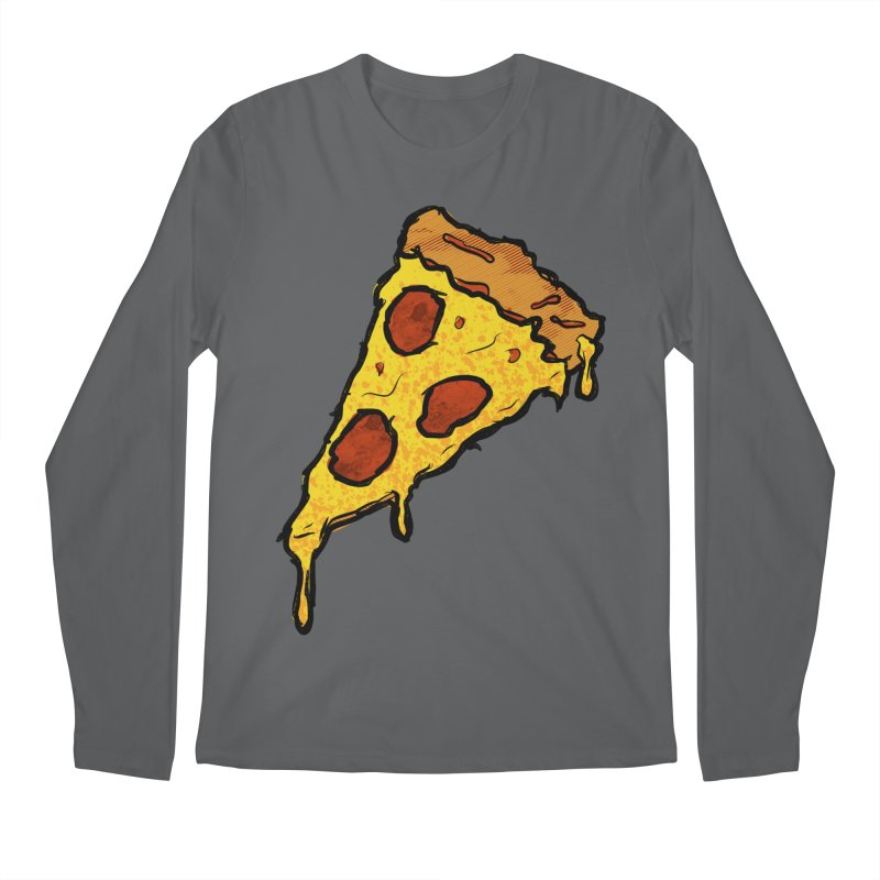 Gooey Pizza Slice Men's Longsleeve T-Shirt by DTM Creative