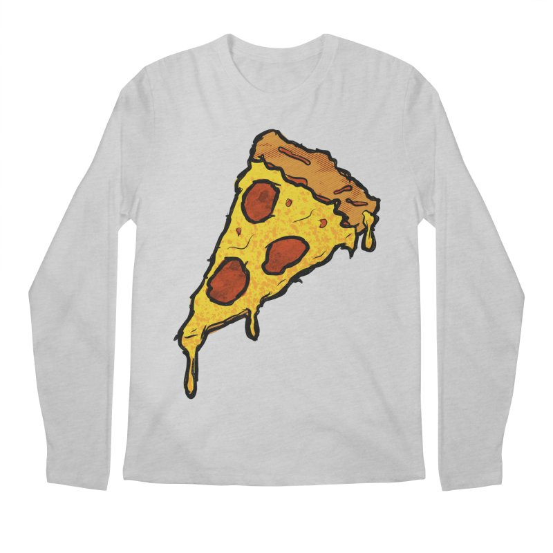Gooey Pizza Slice Men's Regular Longsleeve T-Shirt by DTM Creative