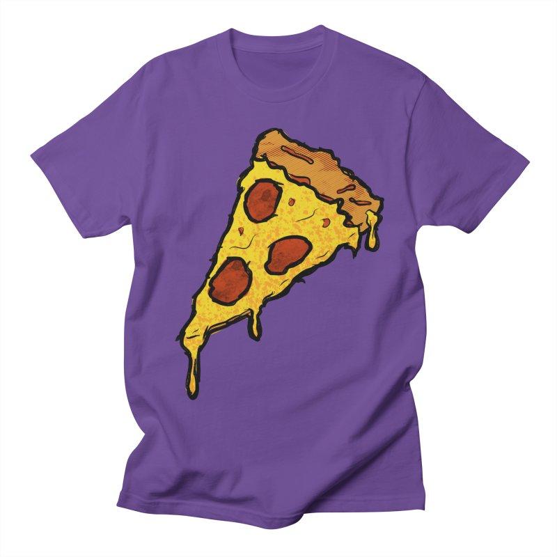 Gooey Pizza Slice Men's Regular T-Shirt by DTM Creative