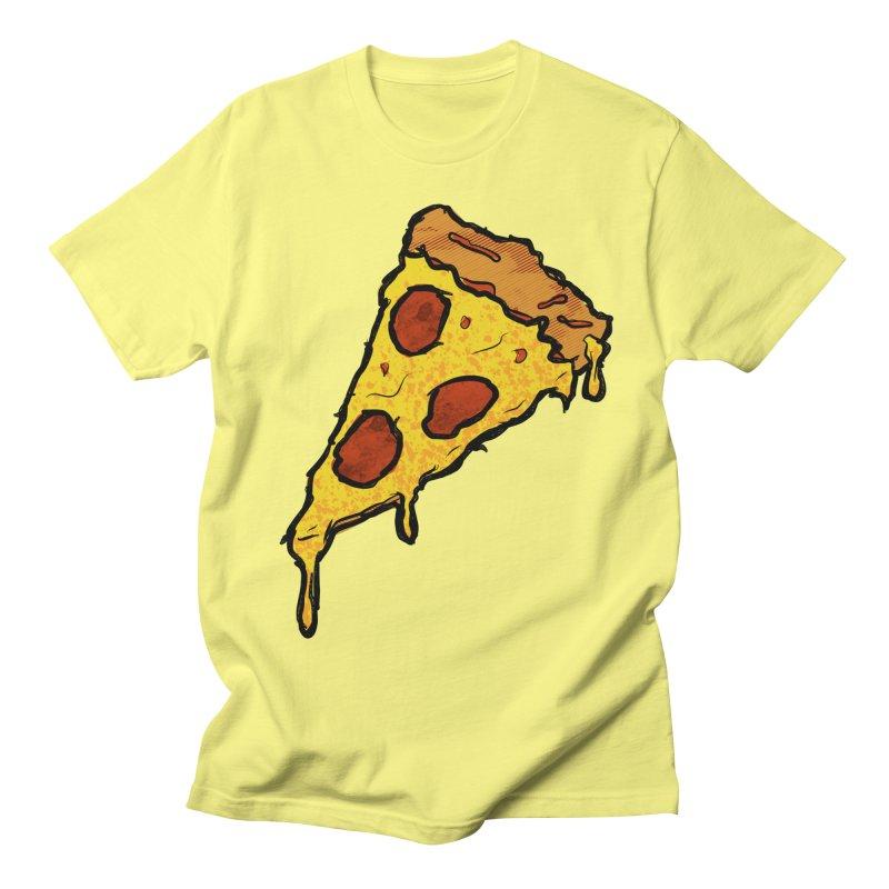 Gooey Pizza Slice Women's Regular Unisex T-Shirt by DTM Creative