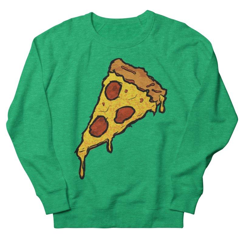 Gooey Pizza Slice Women's French Terry Sweatshirt by DTM Creative
