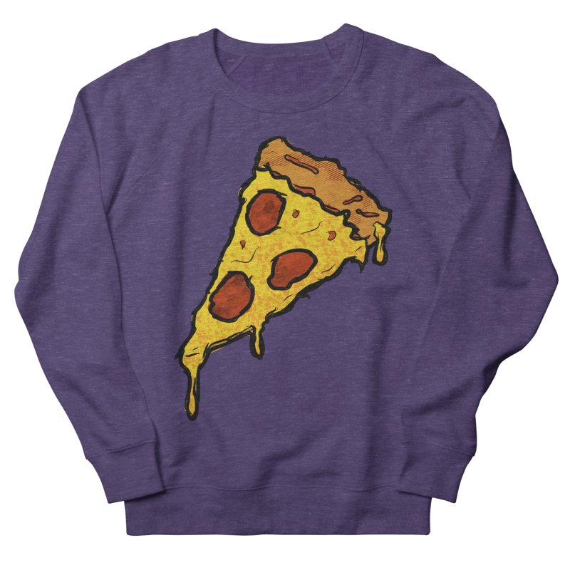 Gooey Pizza Slice Women's French Terry Sweatshirt by DTM Creative