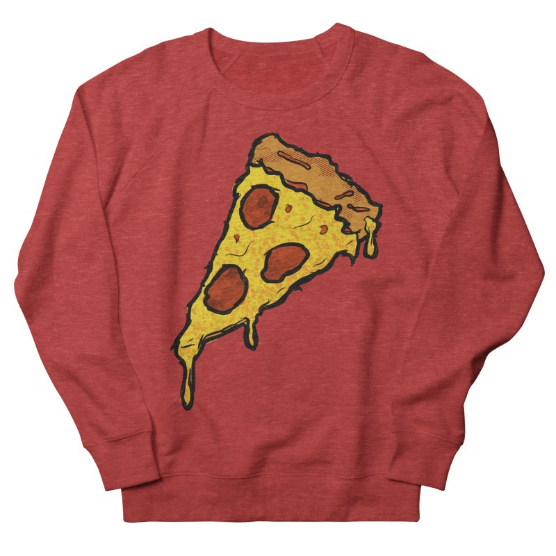 Gooey Pizza Slice Men's French Terry Sweatshirt by DTM Creative