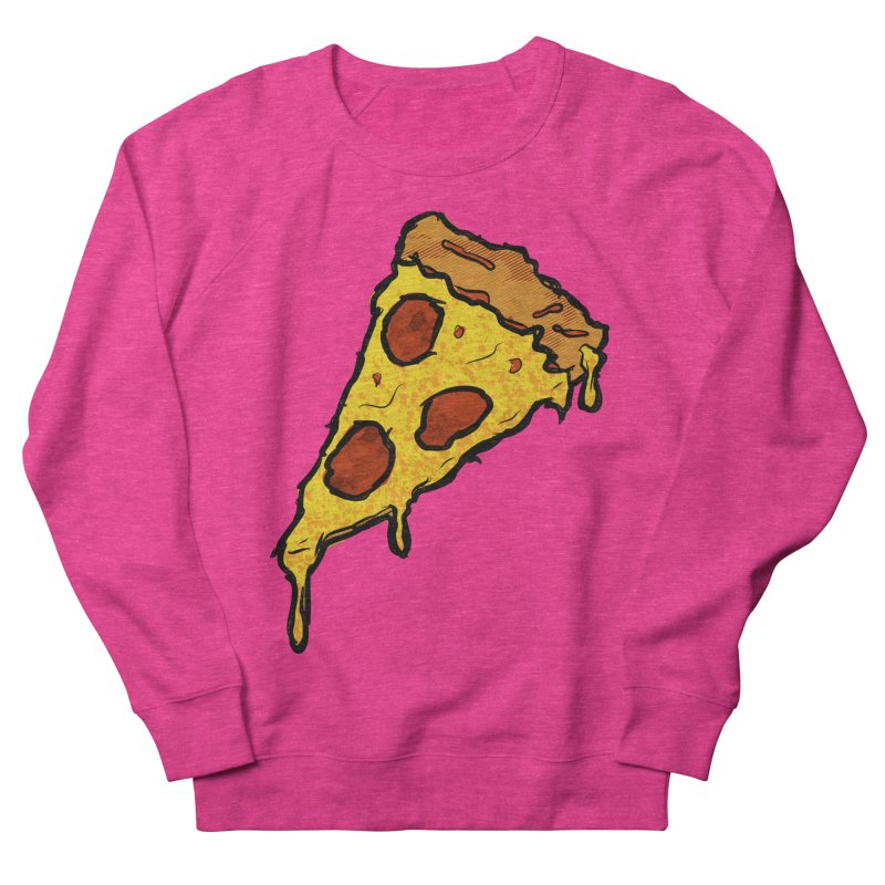 Gooey Pizza Slice Men's French Terry Sweatshirt by DTM Creative