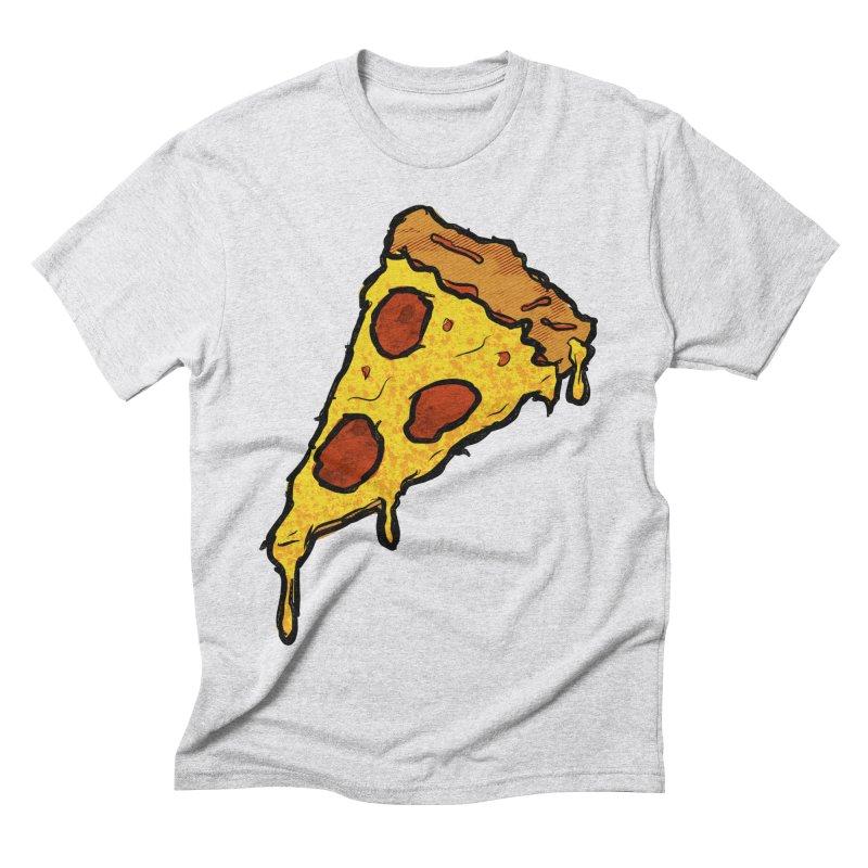 Gooey Pizza Slice Men's Triblend T-Shirt by DTM Creative