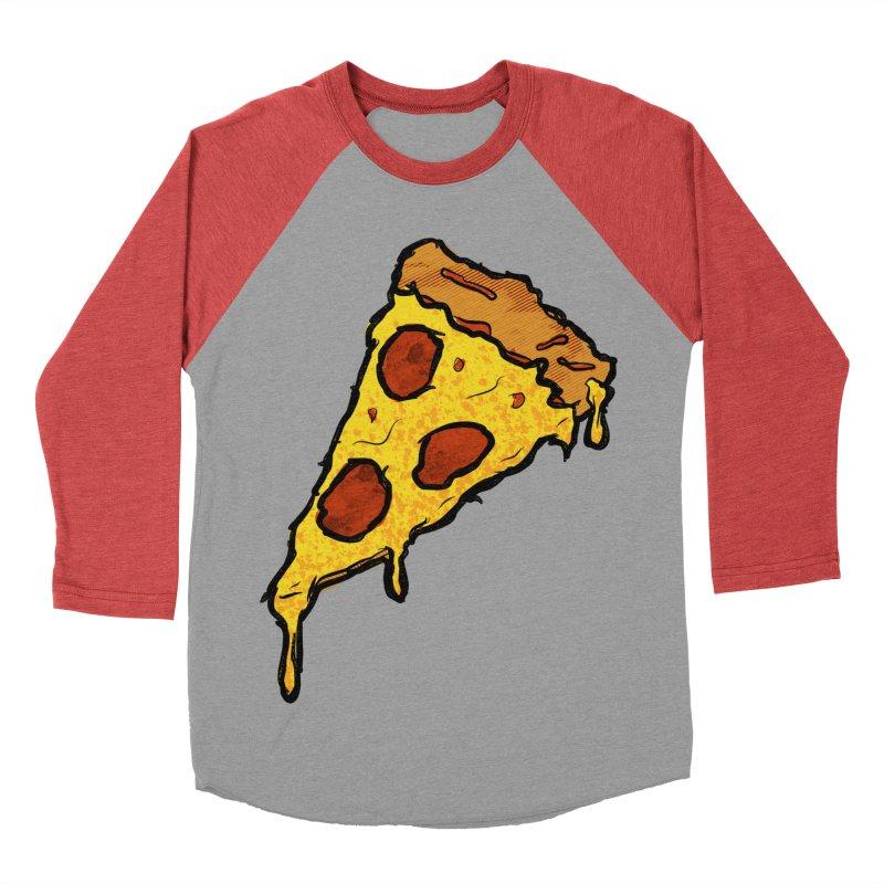 Gooey Pizza Slice Women's Baseball Triblend Longsleeve T-Shirt by DTM Creative