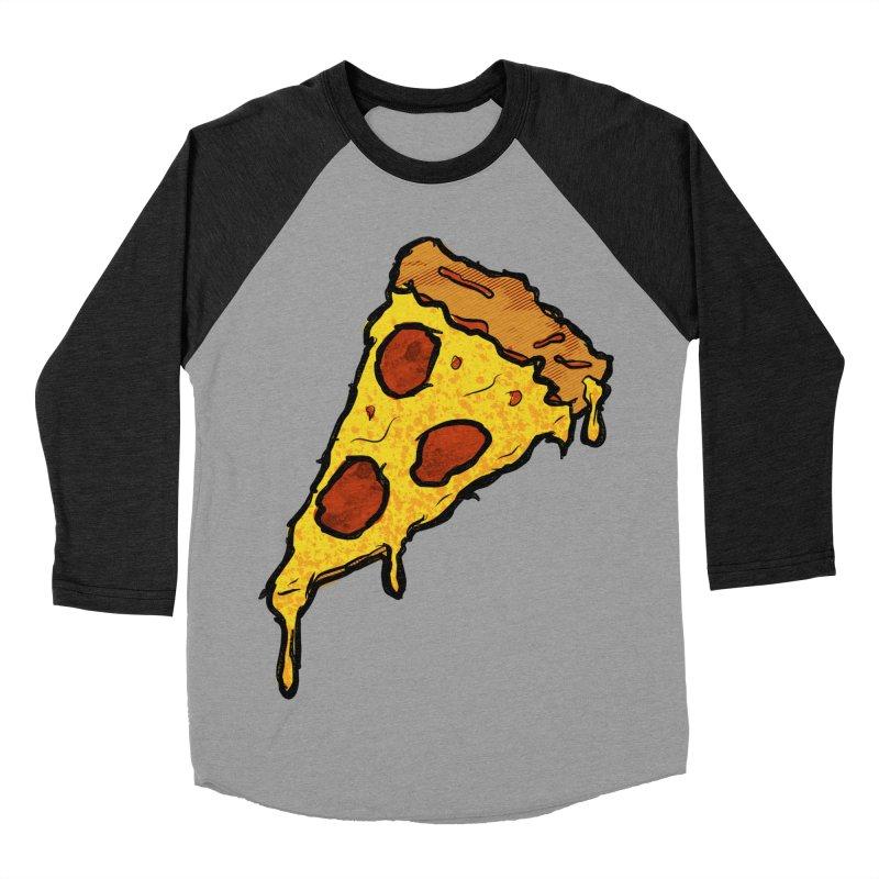 Gooey Pizza Slice Men's Baseball Triblend Longsleeve T-Shirt by DTM Creative