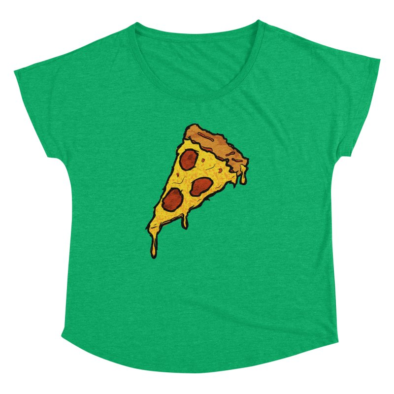 Gooey Pizza Slice Women's Dolman Scoop Neck by DTM Creative