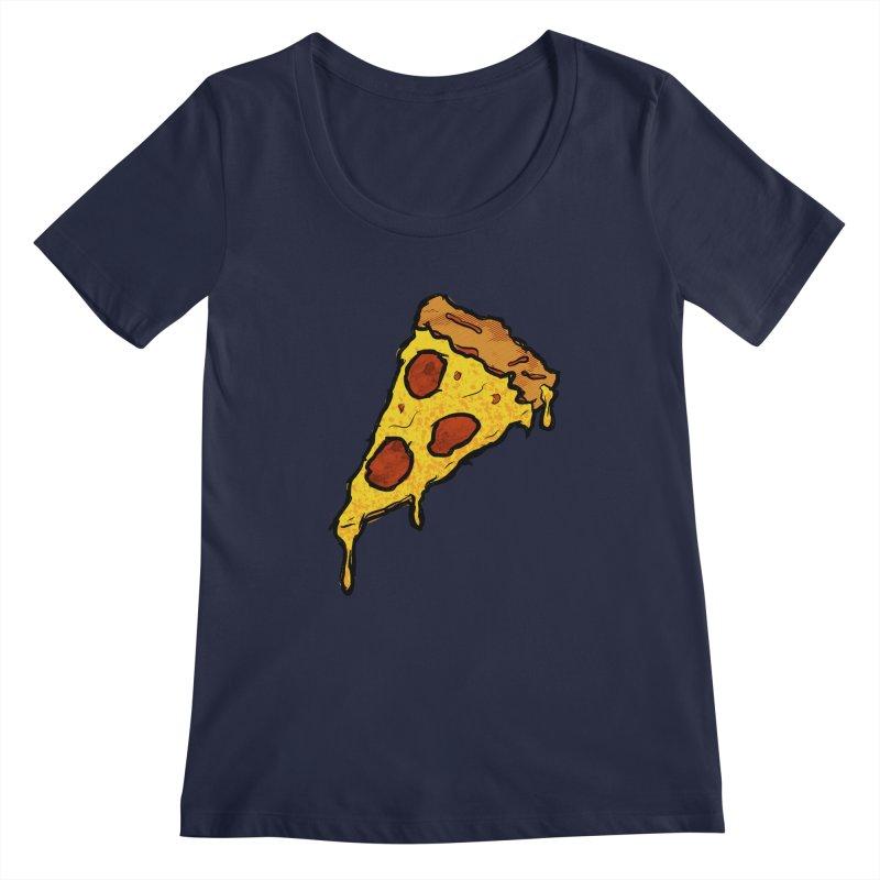 Gooey Pizza Slice Women's Regular Scoop Neck by DTM Creative