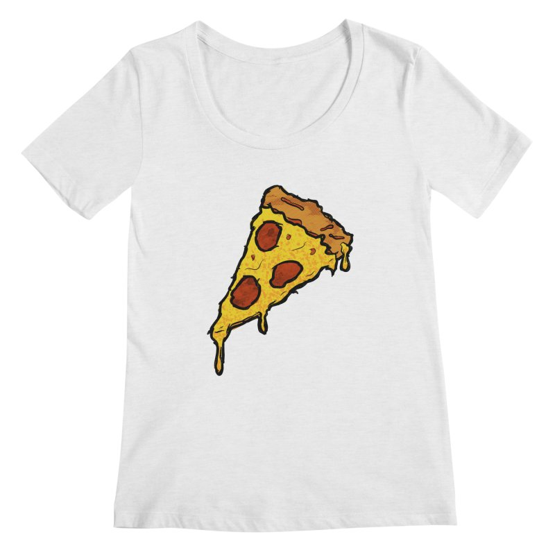 Gooey Pizza Slice Women's Regular Scoop Neck by DTM Creative