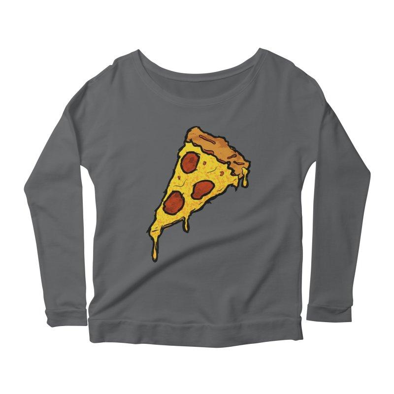 Gooey Pizza Slice Women's Longsleeve T-Shirt by DTM Creative