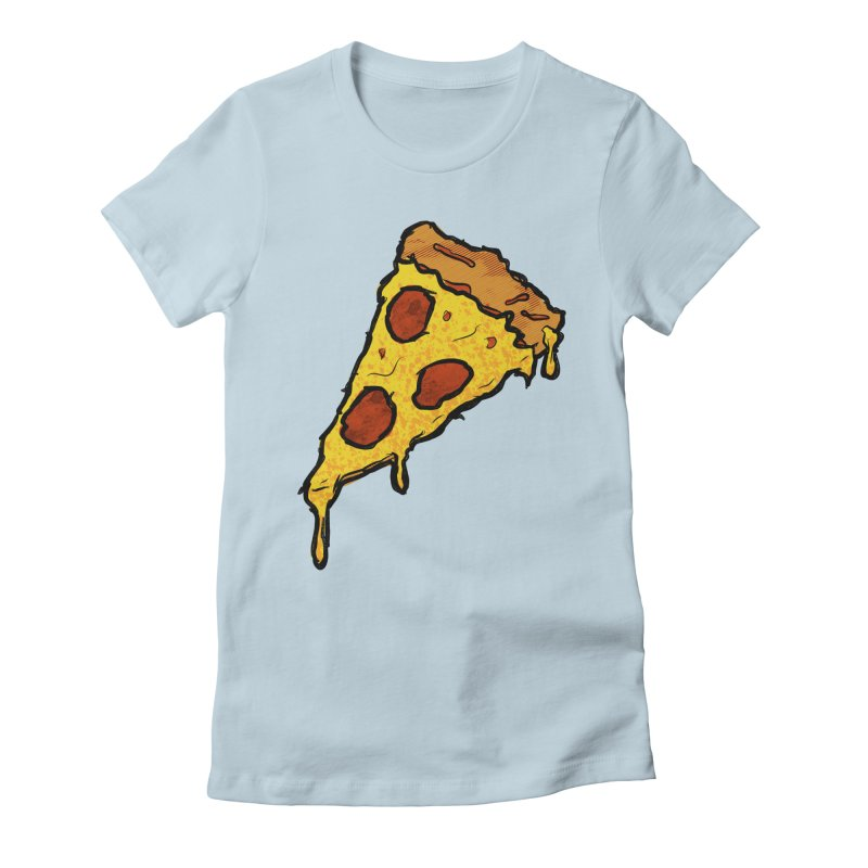 Gooey Pizza Slice Women's Fitted T-Shirt by DTM Creative