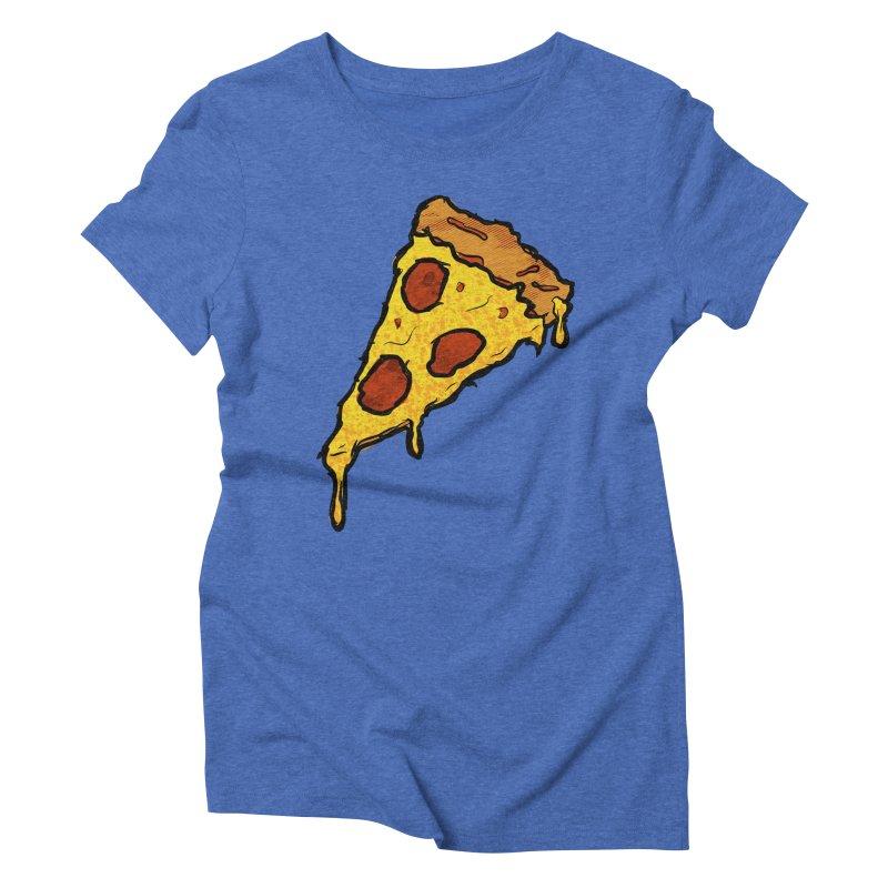 Gooey Pizza Slice Women's Triblend T-Shirt by DTM Creative