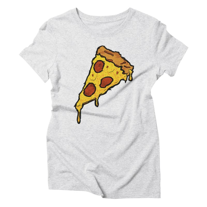 Gooey Pizza Slice Women's Triblend T-Shirt by DTM Creative