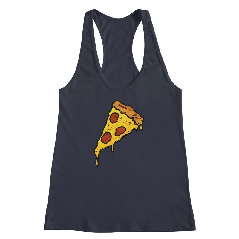 Gooey Pizza Slice Women's Racerback Tank by DTM Creative
