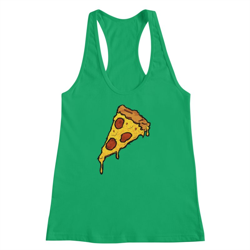 Gooey Pizza Slice Women's Racerback Tank by DTM Creative