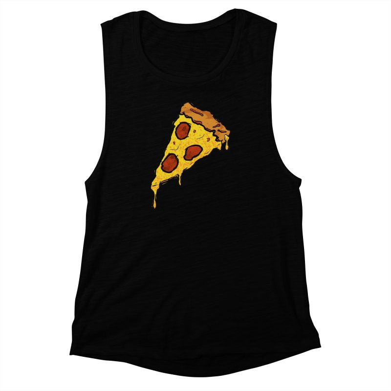 Gooey Pizza Slice Women's Muscle Tank by DTM Creative