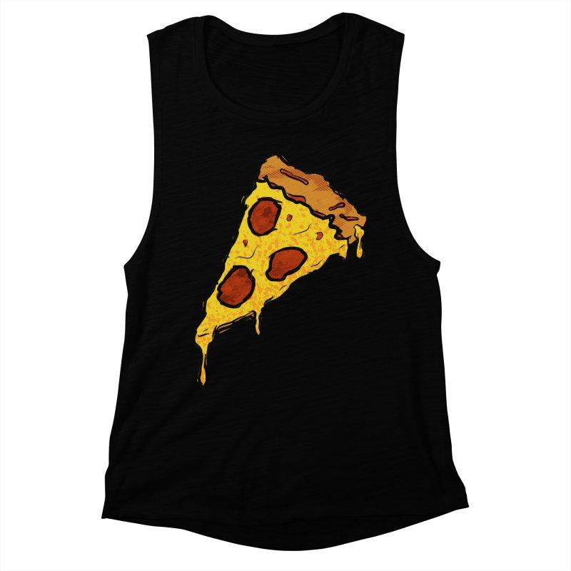 Gooey Pizza Slice Women's Muscle Tank by DTM Creative