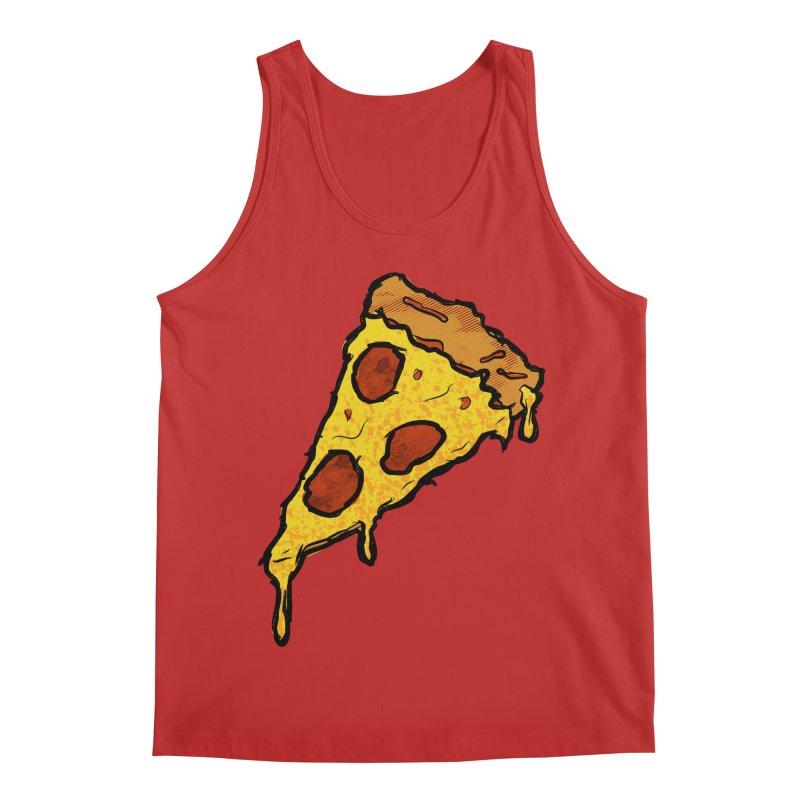 Gooey Pizza Slice Men's Regular Tank by DTM Creative