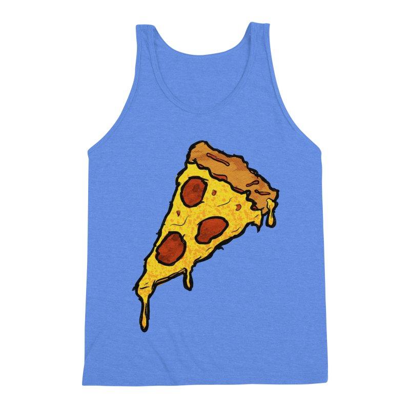 Gooey Pizza Slice Men's Triblend Tank by DTM Creative