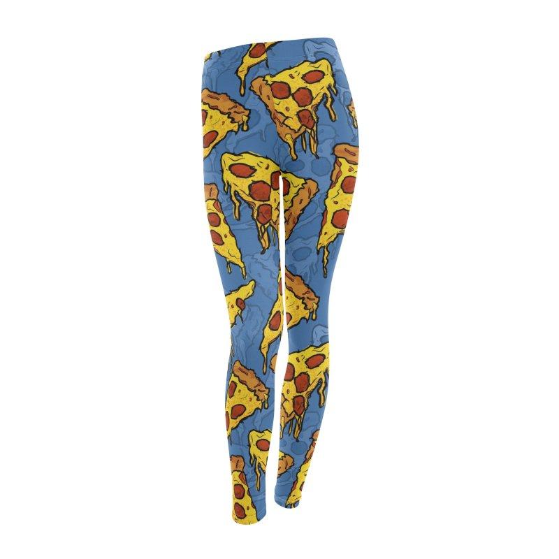 Gooey Pizza Pattern Women's Leggings Bottoms by DTM Creative